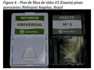 Pino de fibra de vidro #3 (Exacto) pinos acessórios (Reforpin) Angelus, Brasil