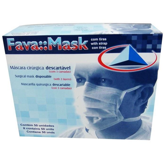 Máscara cirúrgica descartável tripla FavaMask