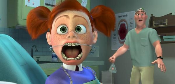 Personagens dentistas Procurando nemo