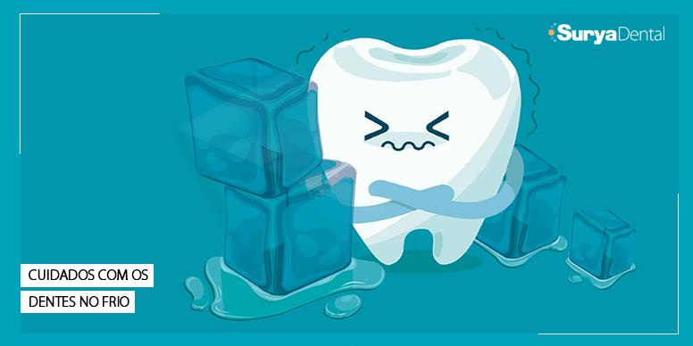 Cuidados com os dentes no frio