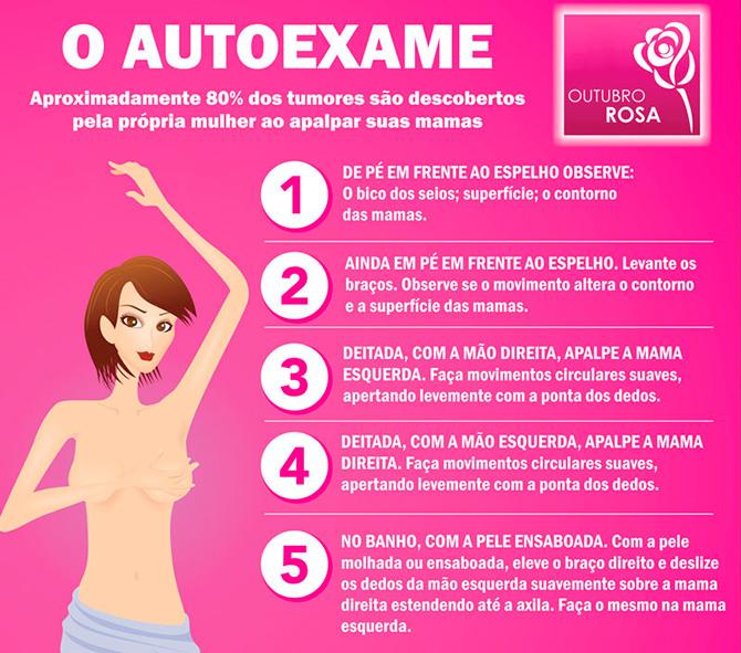 5 Dicas de toques de autoexame para identificar nódulos e câncer de mama