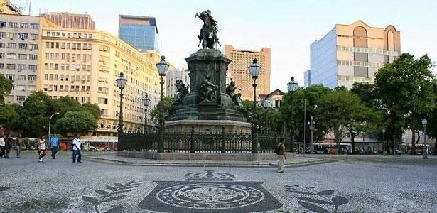 Praça Tiradentes no centro do Rio de Janeiro