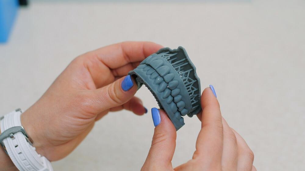 protótipo feito em impressora 3D na odontologia